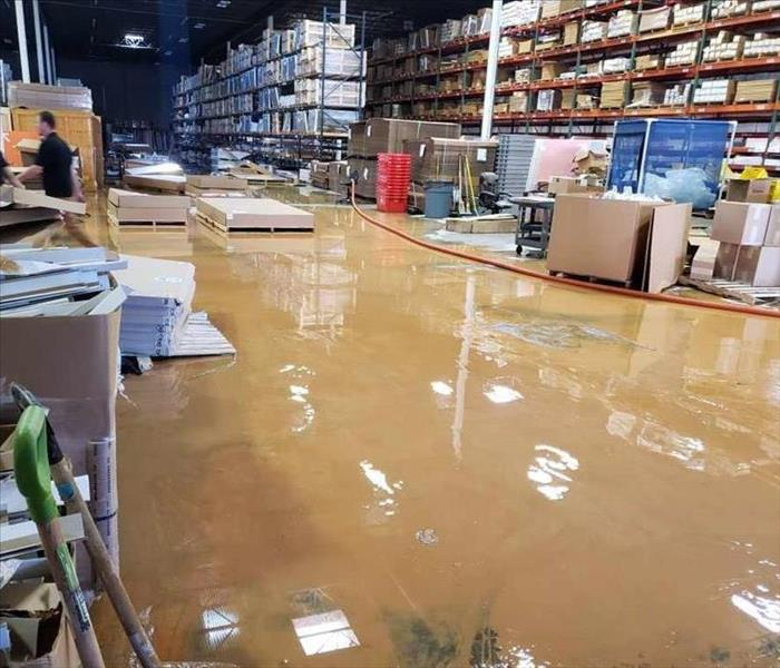 Flooded warehouse in Murfreesboro