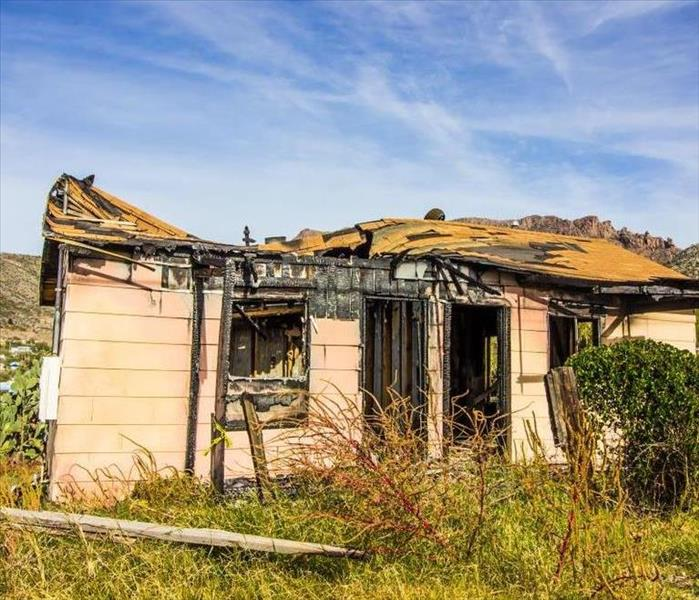Remains of vacant house after a fire